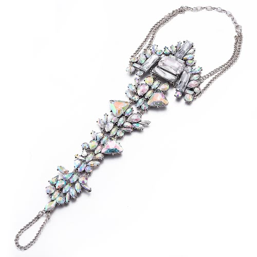 Buy Women Fashion New Unique Charm Vintage Jewelry Rhinestone Crystal Metal Anklets Foot Chain Leg Bracelet Girl