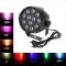 DMX-512 RGB LED Alta Potenza Scena PAR Luce Illuminazione Stroboscopica Professionale 8 Canali per Festa Discoteca Mostra 15W AC 90-240V