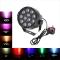Lixada DMX-512 RGB LED forte puissance PAR lumière de scene  Eclairage stroboscopique  soiree Chaîne Disco show15W AC 90-240V