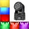 DMX-512 Mini Moving Head Light 4 In 1 RGBW LED Stage PAR Light Strobe Professional 9/14 Channels Party Disco 100W AC 100-240V